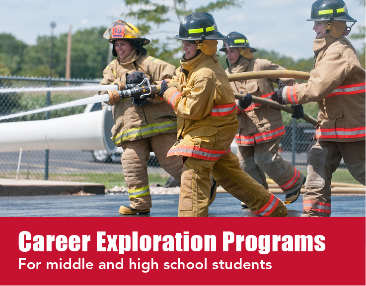 Career exploration programs for middle and high school students.