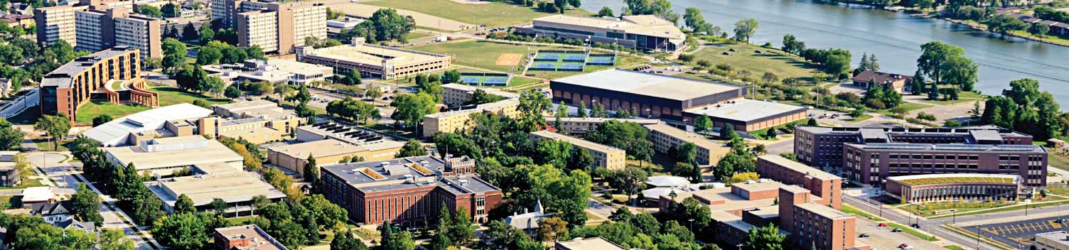 Arial view of UW Oshkosh campus