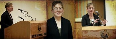 A photo composite of Dr. Carmen Heider