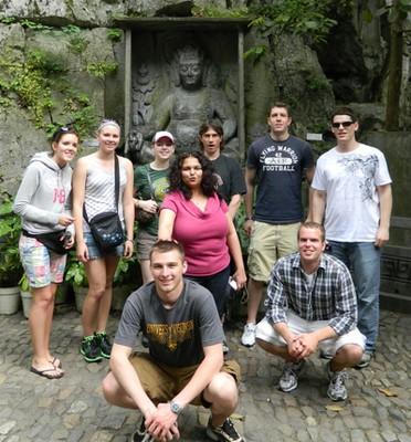 UW Oshkosh professor Tanvi Kothari and students
