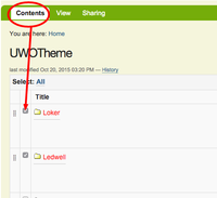 choose checkboxes in contents tab