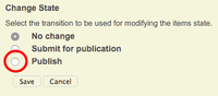 Publish a lot of items using the publish page