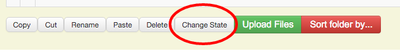 Change State Button at bottom of contents page